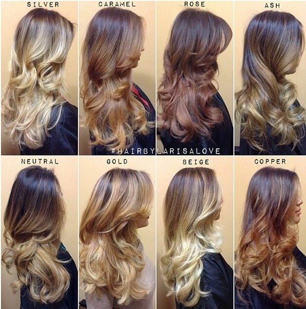 Different Ombre Hair Colour Ideas
