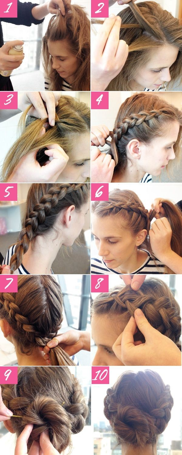 Double Braided Bun Hairstyle Tutorial