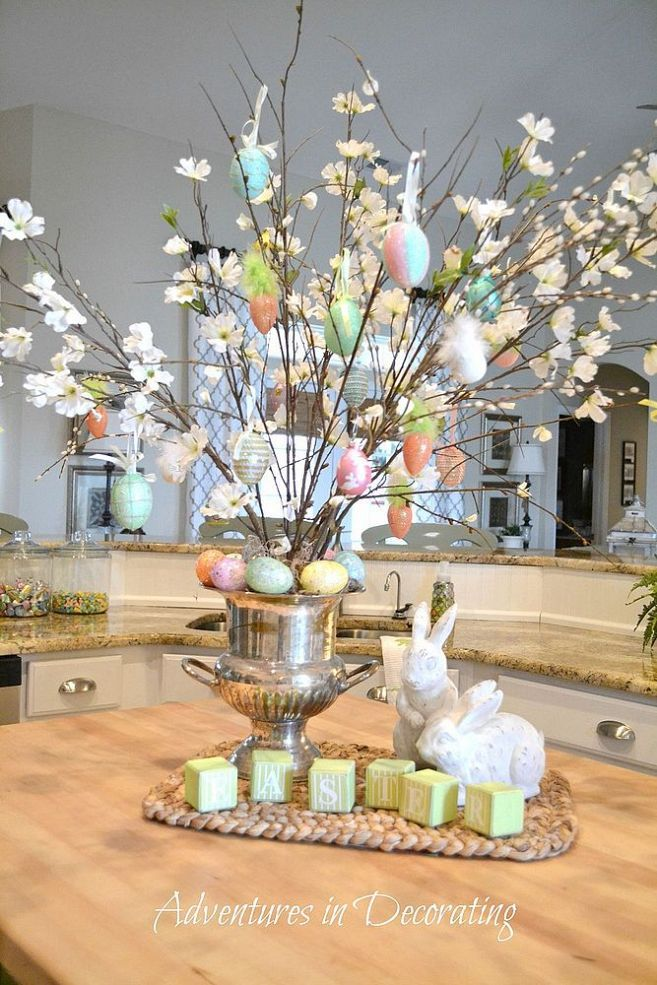 easter decorating ideas to beautify your easter Easter Eggs and Flowers Holder
