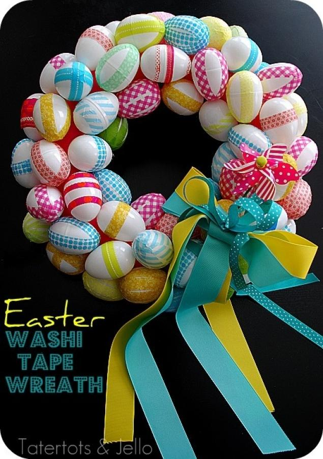 Easter Washi Tape Wreath