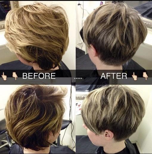 Easy Layered Pixie Haircut for Women via