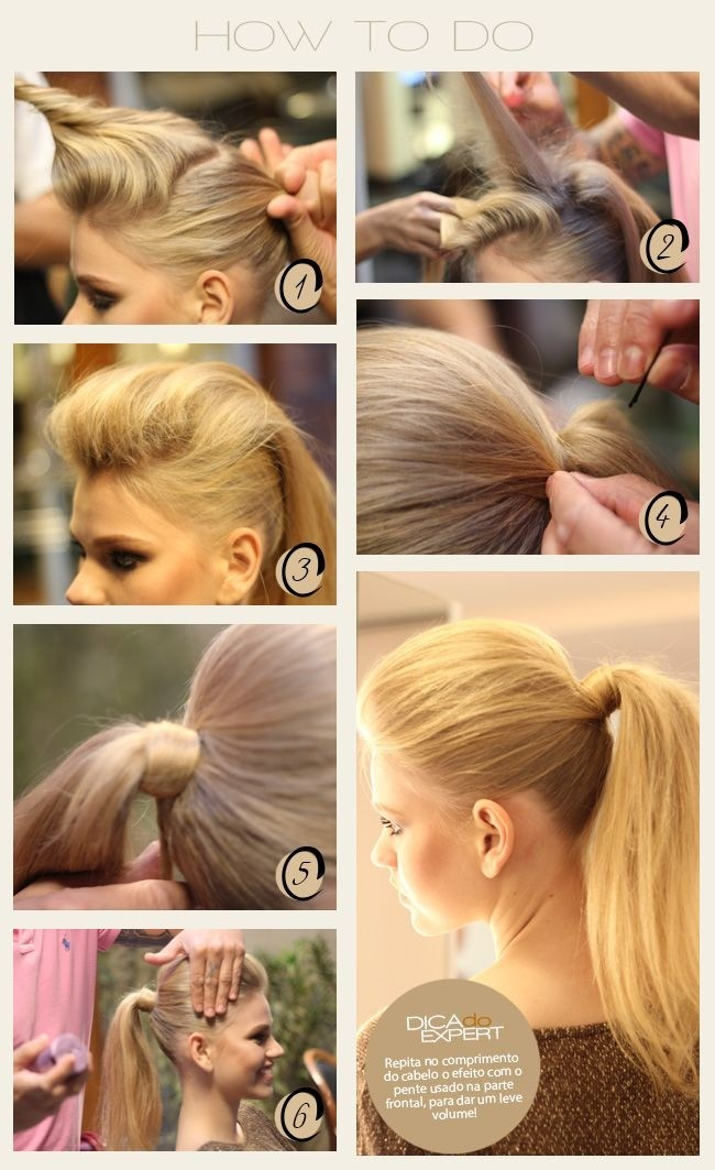Easy Ponytail Hairstyle for Long Straight Hair