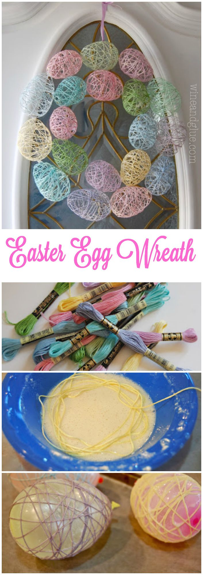15 easter decorating ideas pretty designs egg wreath negle Choice Image