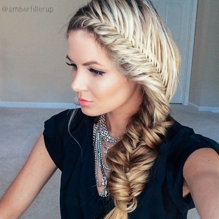 22 stunning braid hairstyles for long hair pretty designs for Fish tail hair