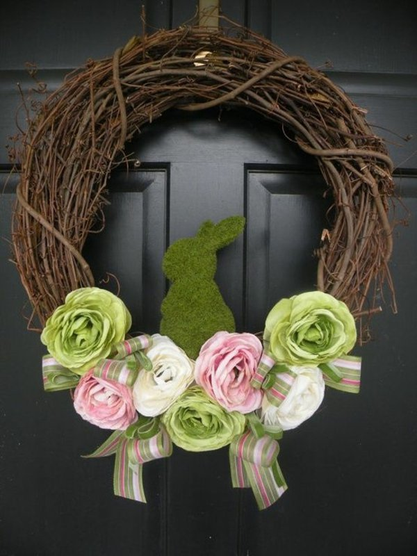 Green Bunny Wreath