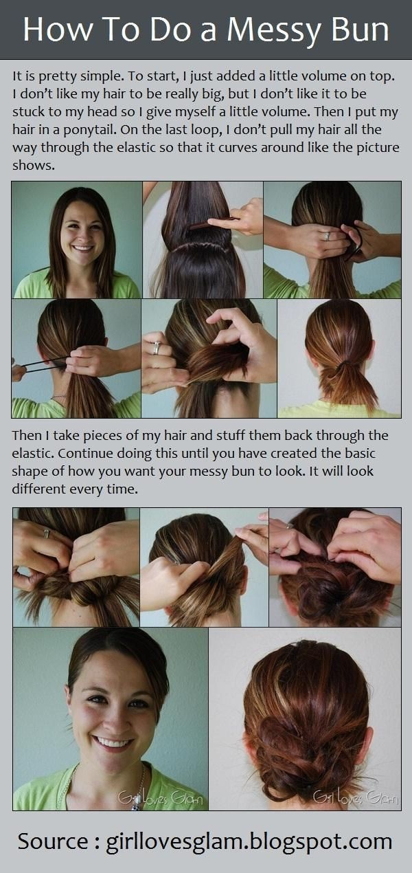 How to Do a Messy Bun Hairstyle