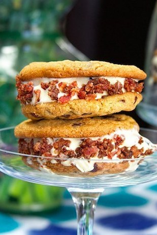 Ice-cream Sandwiches with Bacon