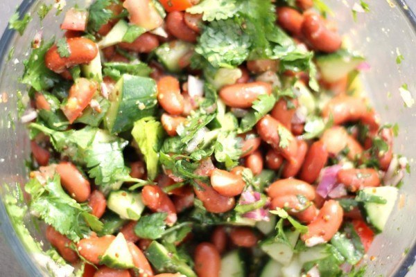 Kidney Bean and Cilantro Salad