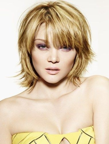 Layered Bob Haircut for Heart Shaped Face