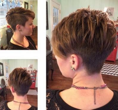Layered Pixie Hair Cut