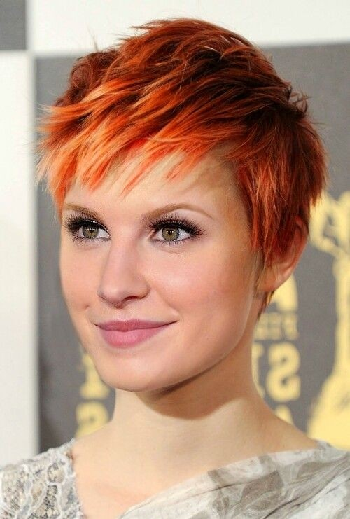 Short Layered Pixie Haircut for Red Hair