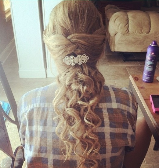 Cute Hairstyles For Prom prom hairstyles for long hair cute simple hairstyle Long Blond Curly Hair For Prom Hairstyles