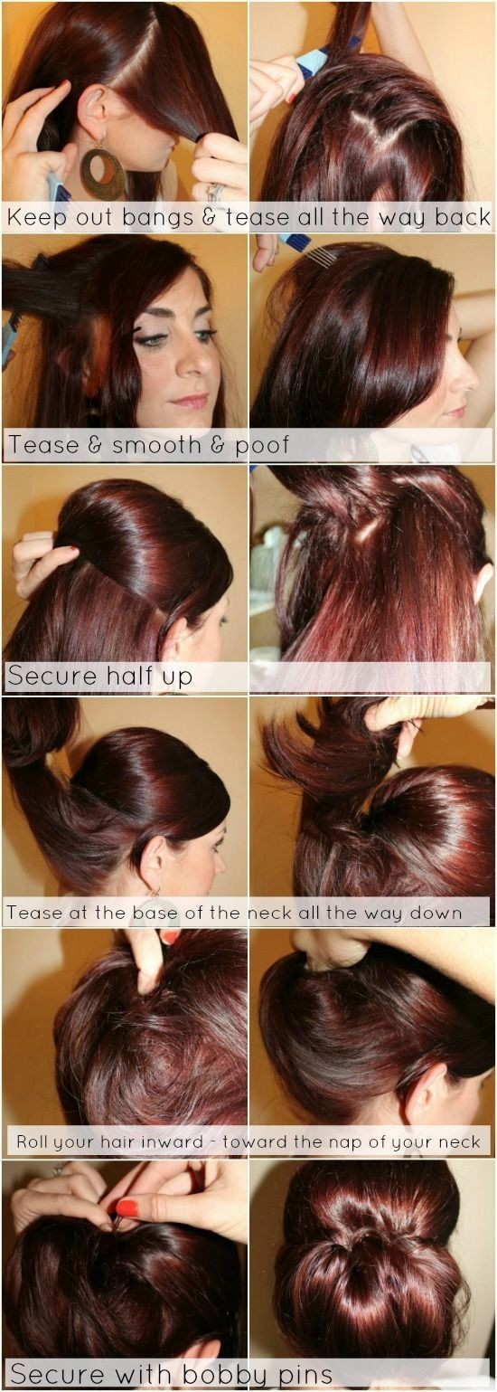 14 Easy Step By Step Updo Hairstyles Tutorials Pretty Designs