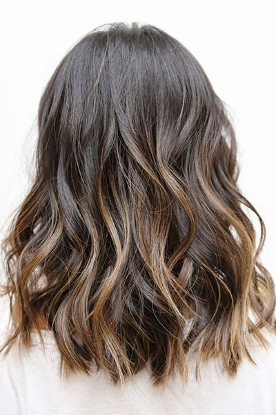Medium Wavy Haircut for Ombre Hair