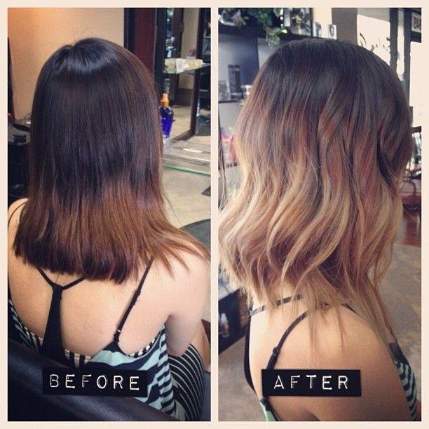 Medium Wavy Hairstyle for Ombré Hair