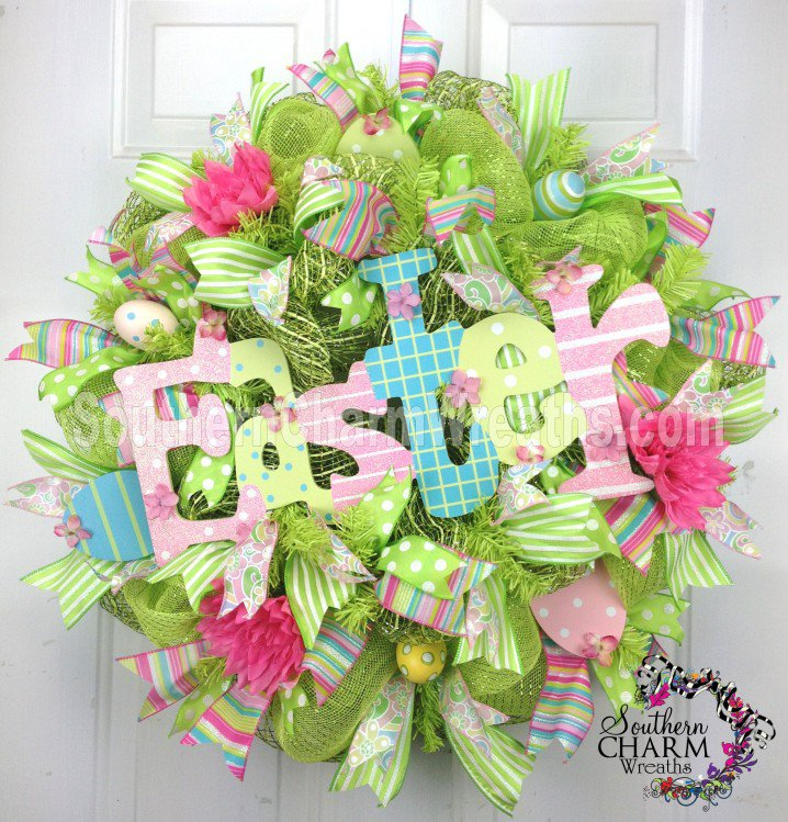 Mesh Easter Wreath