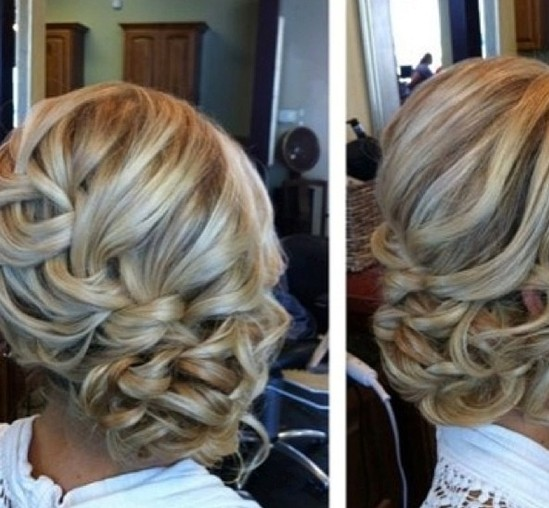 Messy Braided Side Updo