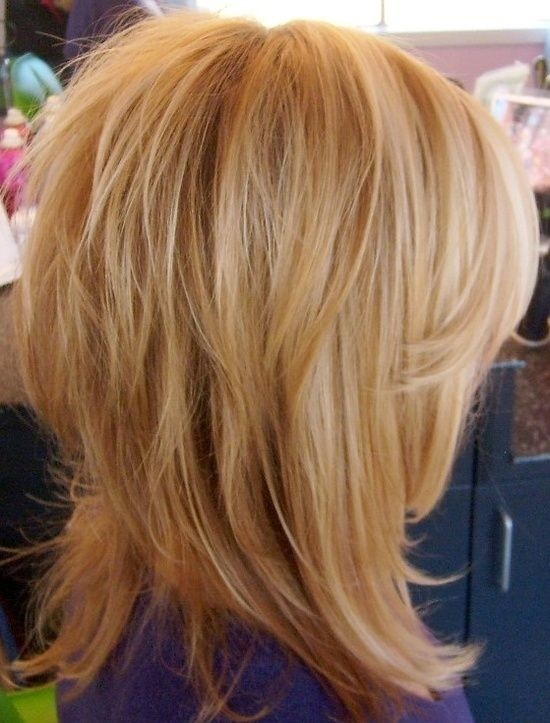 Messy Medium Hairstyle for Blond Hair