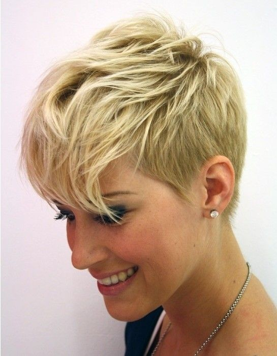 Messy Pixie Haircut for Long Face