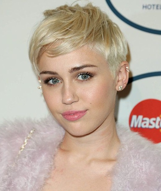 Miley Cyrus Blond Pixie Haircut