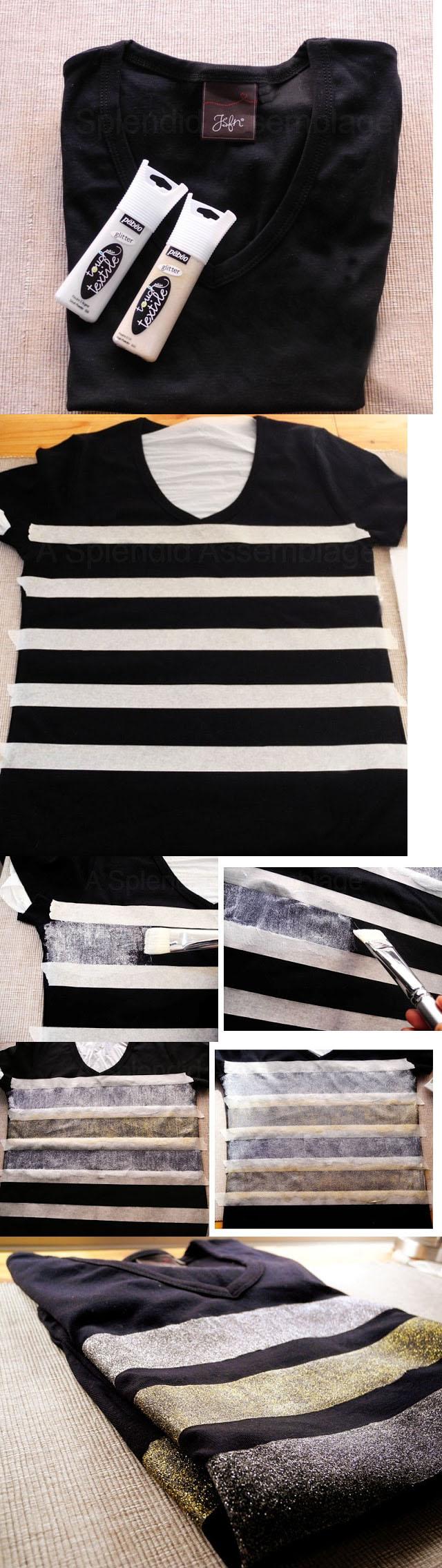 painted t shirt via. Black Bedroom Furniture Sets. Home Design Ideas