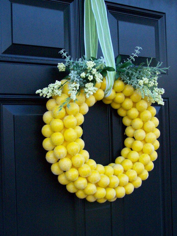 Ping Pong Ball Wreath
