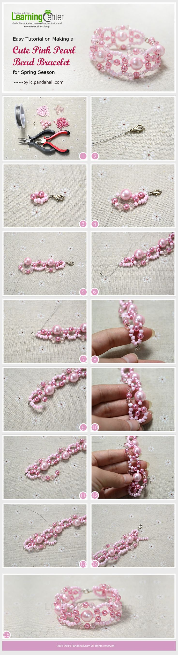 Pink Pearl Beaded Bracelet