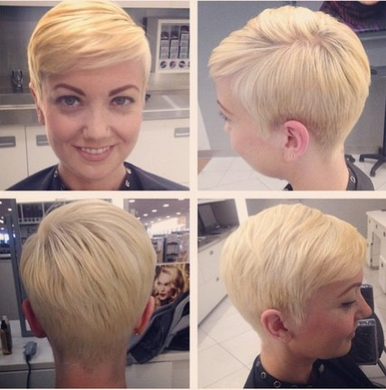 Pixie Hairstyle with Subtle Bangs