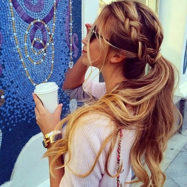 Awesome Ponytail With Braided Bangs Braids Hairstyles For Women Draintrainus