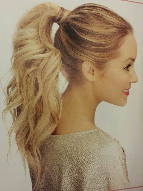 Pretty High Ponytail Hairstyle