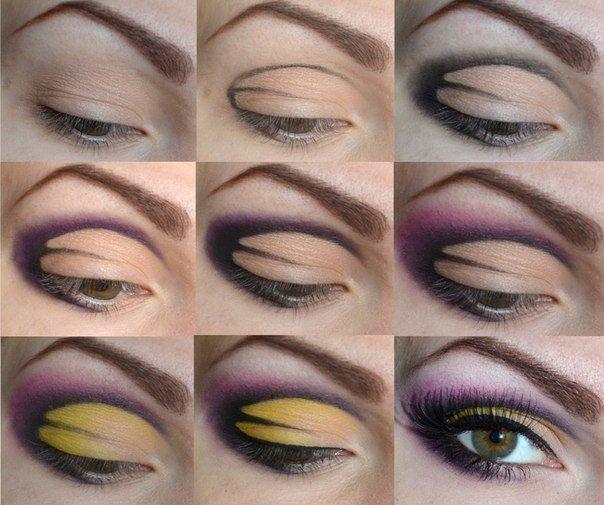 Purple and Yellow Eyeshadow