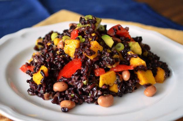 Rice, Mango and Black Eyed Pea Salad