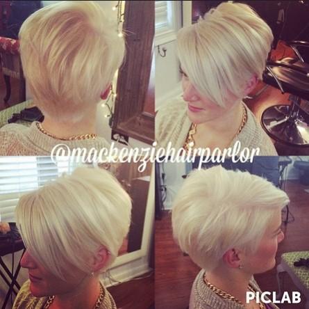 Short Blond Haircut for Women