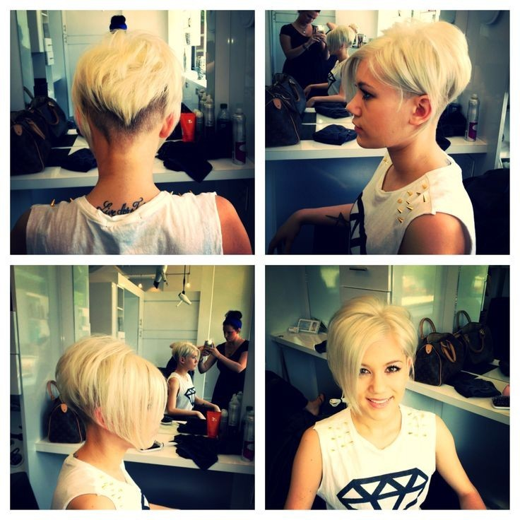 Short Bob Haircut for Blond Hair
