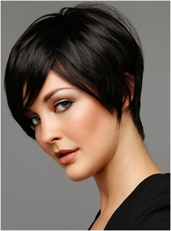 Short Layered Haircut with Side Bangs