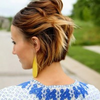 Short Ombre Hairstyle for Thick Hair