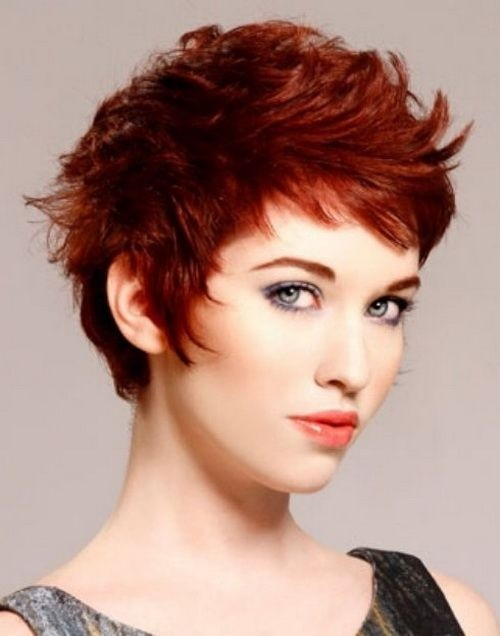 Short Pixie Haircut for Red Hair