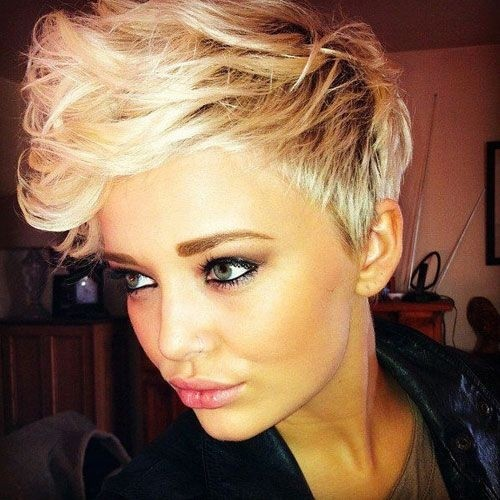 Short Pixie Haircut with Curls