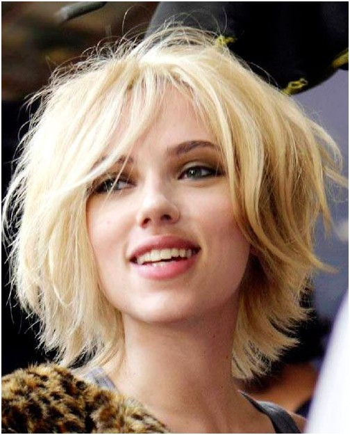 Short Shaggy Hairstyle Blond Hair