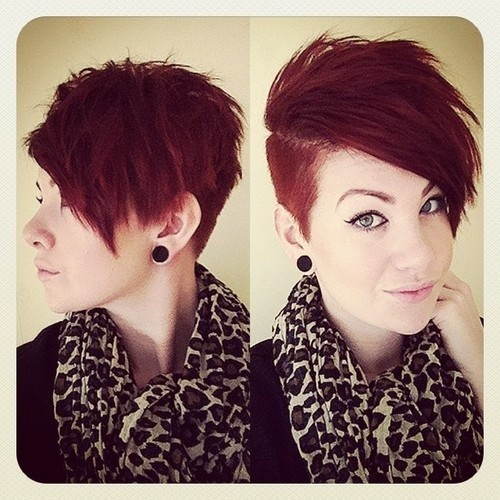 Short Shaved Haircut for Red Hair