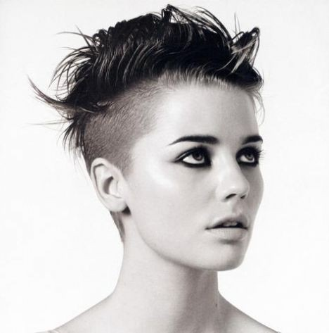 Short Shaved Pixie Hairstyle for Women
