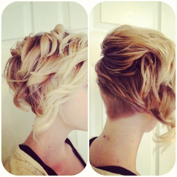 Cool Short Undercut with Curls
