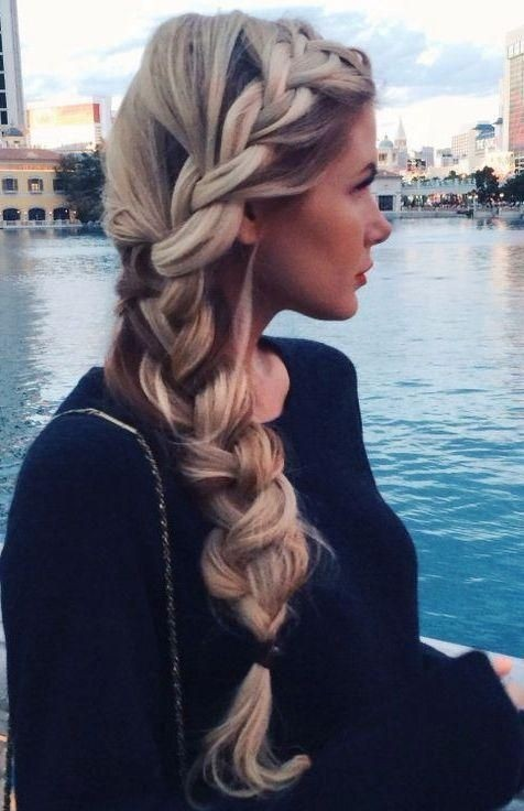 Loose, Side Braid Hairstyle