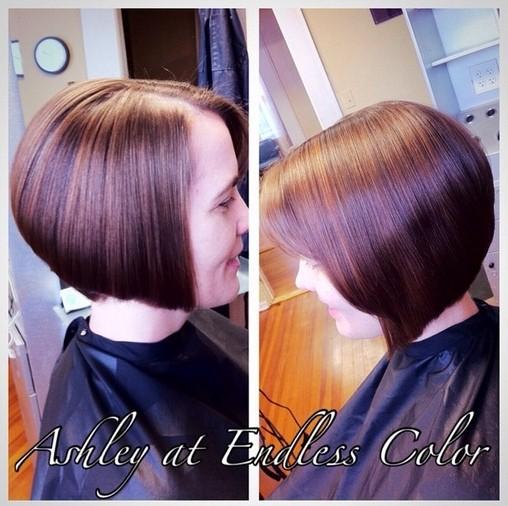 Sleek Straight Angled Bob Hairstyle