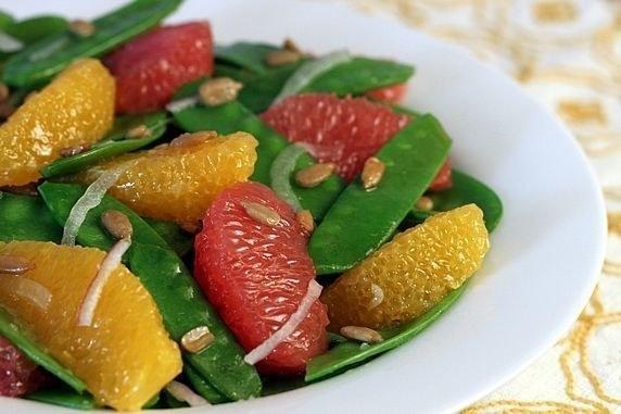 Snow Pea, Orange, and Grapefruit Salad