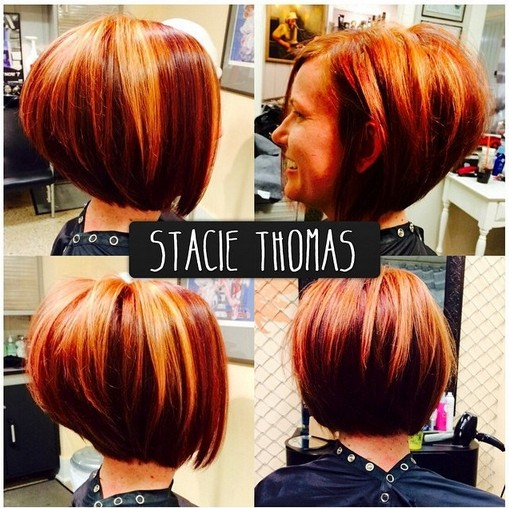 Stacked Bob Haircut for Ombre Hair