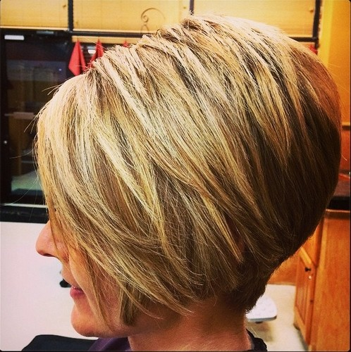 Stacked Bob Haircut for Thick Hair