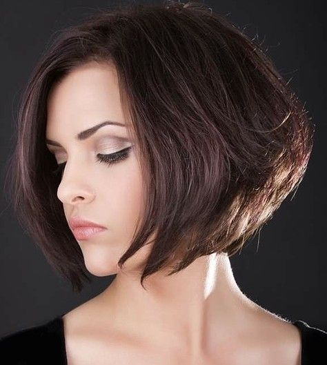 Stacked Bob Hairstyle for Brown Hair