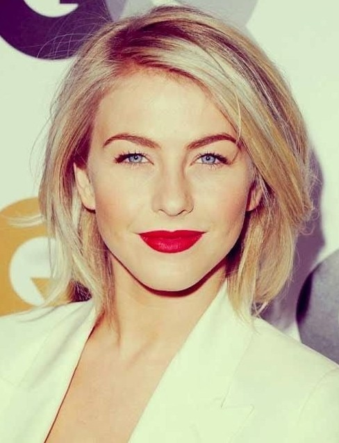 Straight Bob Haircut for Blond Hair