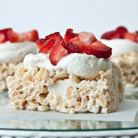 Strawberry Shortcake Rice Krispie